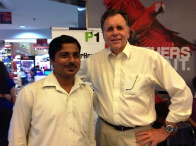Narender Kumar with Barry J Marshall