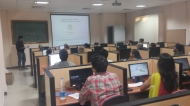 Narender Kumar giving a workshop on genome assembly