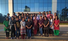 MSc students (2015-2017) with Dean of Students Welfare, Prof. Prakash Babu and HoD, Dr Ahmed.