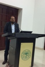 At an academic event at AMU, Aligarh